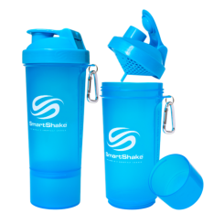 SmartShake Slim neon blue, 400 ml